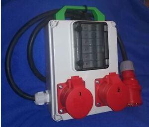 Stromverteiler,Adapter 32A auf 2x CEE 16A 6xB16A