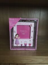 Think Pink Fairy Blossom I believe in Fairies Photo Frame BRAND NEW