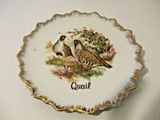 Quail collectors plate from Japan