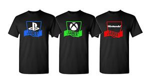 Playstation XBOX Nintendo PC Gamer Shield  Video Game Short Sleeve T shirt
