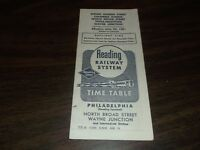 JUNE 1961 READING COMPANY PHILADELPHIA-WAYNE JUNCTION, PA PUBLIC TIMETABLE
