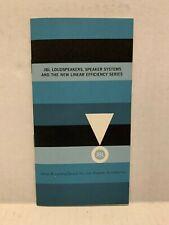 Original 1959 JBL Speaker Brochure Hartsfield N7000 Paragon 075 375 D130 150-4