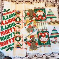 Christmas Bath & Kitchen Towels & Washcloth- Lot Of 7