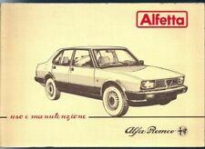 Manuali e istruzioni Alfetta per auto per Alfa Romeo