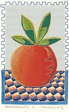 "Dimitris C. Milionis ""FRUIT"" Signed Hand Colored Screen Print Greek Artist 1995"