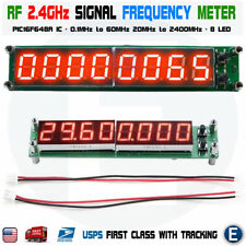 Rf Signal Frequency Counter Cymometer Tester 01 60mhz 20mhz24ghz Meter Red