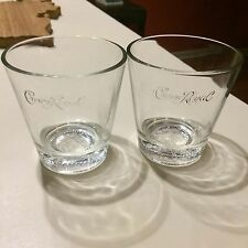 2 Crown Royal Rocks Glasses Canadian Whisky Glass Old Fashioned Bar Man Cave