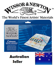 (painting Plus 24 Half Pan Set) - Winsor & Newton Cotman Water Colour Pocket Plu