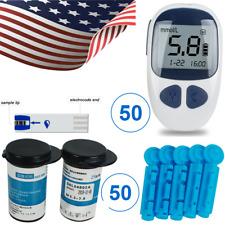 New Blood Glucose Kit Sugar Meter Monitor Diabetes+50 Test Strips+50 Lancets Usa