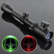3-9X40EG Hunting Red Green illuminated Mil-Dot Optical Gun Rifle Scope + Mount
