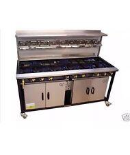 COMMERCIAL Indian RESTAURANT COOKER, 9 Burner  With 1 Oven