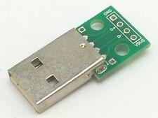 USB Adapter Platine   USB 2 Standard-A Stecker zu RM 2,54   Breakout Board
