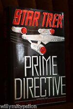 Judith and Garfield Reeves-Stevens: STAR TREK. PRIME DIRECTIVE. 1st print. USA