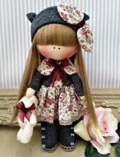 Rag doll handmade in the UK Tilda doll Ooak doll Fabric doll OLIVIA 8 inch tall