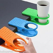 HP 1PC Fashion Office Kitchen Table Desk Drink Coffee Cup Holder Clip Drinklip