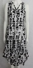 Heart, Black and White Tigerlily Dress HB052-CPF14  KNEE LENGTH UK MEDIUM