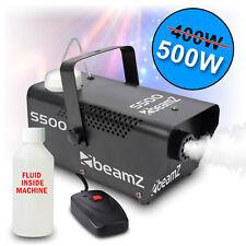 BEAMZ S-500 Smoke Machine Fog Effect With Fluid & Remote Control DJ Disco Party