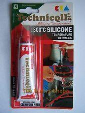 1x Rojo Ht Alta Temperatura 20ml Sellador Adhesivo de silicona resistente al calor 300'C
