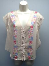 FREE PEOPLE Anthropologie NEW Cotton BOHO Peasant ANTIQUE COMBO Top Shirt