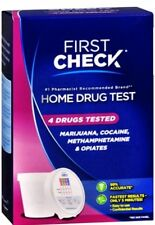 First Check Home Drug Test, 4 Drugs Tested, 1.0 CT Exp Date 7/17+ Damaged box