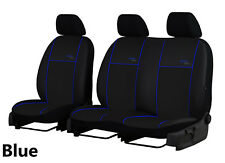 RENAULT TRAFIC 2+1 2001-2014 ECO LEATHER TAILORED SEAT COVERS MADE TO MEASURE