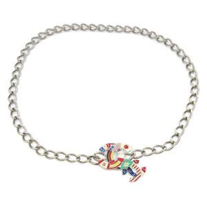 CHANEL CC Logos National Flag Charm Silver Chain Belt 05A Accessories GS01311h