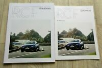 ANr.197) Lexus RC F 5.0 V8 Prospekt 2019 + RC-F Preisliste 2019 brochure catalog