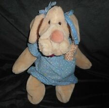 VINTAGE HERITAGE WRINKLES GANZBROS STUFFED ANIMAL PLUSH HAND PUPPET BLUE OUTFIT
