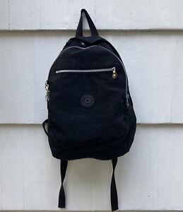 Kipling ChallengerII Series Black Nylon Backpack Bag EUC
