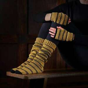 Harry Potter Hufflepuff Socks & Mittens Knitting Set Officially Licensed