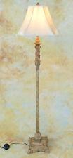 Stehlampe Lampe Stehleuchte Stoffschirm klassisch antik Look Craquelé PQ003-b