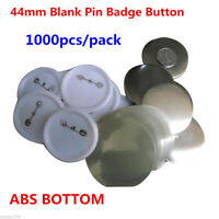 1000PCS 44mm Blank Pin Badge Button Supplies for Badge Maker Machine, ABS BOTTOM