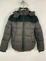 BOYS BLACK CATS GREY WINTER CASUAL PADDED RAINCOAT HOOD JACKET KIDS AGE 10 YEARS