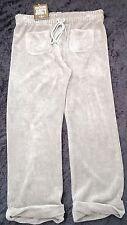 Neuf avec étiquettes Juicy Couture Femme S Brun Clair Coton Survêtement Pantalon UK 8/10