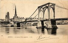 CPA Rouen-L'ancien Pont suspendu (348756)