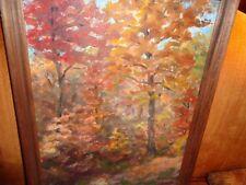 "Dr. Arnold Wharburton Lahee: O/C ""Vermont Autumn:"" Listed artist: 1954 greatlook"