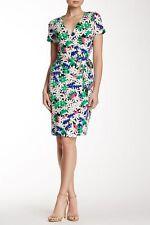 NWT Diane von Furstenberg New Julian Two Garden Daisy Multi Wrap Dress 4 $398
