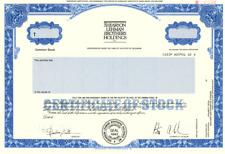 *RARE* Shearson Lehman Brothers Holdings Inc. Specimen Stock Certificate - 1987