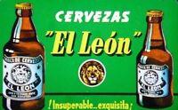 """ Cervezas El Leon "" Fotografía Anuncio Imagen Carton  San Sebastian Gipuzkoa"