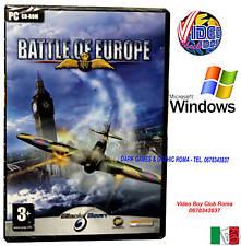 BATTLE OF EUROPE PC CD ROM GAME WINDOWS NUOVO ITALIANO