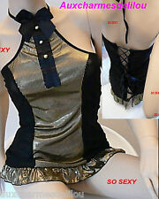 LINGERIE NUISETTE BABYDOLL  SEXY + string TM SOUS VETEMENT FEMME SEXY NEUF
