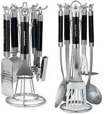 Morphy Richards Accents Black Kitchen Gadget Set & Tool Set 46810/20