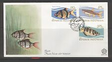 INDONESIA 1983 FDC SHP 151  FISH POISSON VISSEN + BLANK