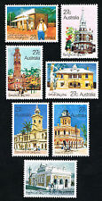 Australia Sc# 832 - 838 = 1982 Architecture Post Offices = Mint Perfect Nh