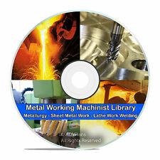 310 Books Metalwork Blacksmithing Lathe Work Welding Metal Spinning Dvd V68