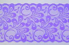 Lunghezza 3 M di Viola DOPPIA Edge Wide pizzo ca. 150 mm (15 cm) di larghezza