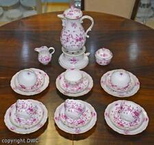 Kaffee Tee Service 26 tlg. Meissen Dekor indisch Purpur Porzellan Marke Tassen