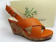 Annie Shoes Women's Hypo Drive Espadrille Wedge Sandal SZ 7.5 M, Russet, 12373