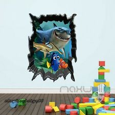 Finding Nemo Dory Breakthrough Wall Decals Removable Kids Baby Stickers Decor