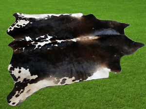 """100% New Cowhide Rugs Area Cow Skin Leather (60"""" x 63"""") Cow hide SA-7012"""